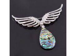 Брошь из перламутра халиотиса - Крылья Ангела