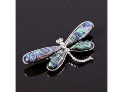 Брошь-подвеска из перламутра халиотиса - Счастливая Бабочка