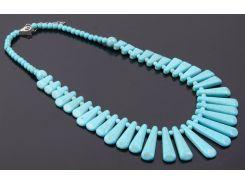 """Ожерелье из крошки бирюзы и магнезита """"Голубая луна"""""""