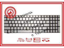 Клавиатура ASUS G550, N550, N750, Q550 серебристая без рамки с подсветкой RU/US