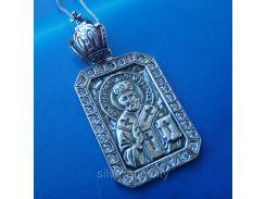 Серебряная подвеска-ладанка Николай Чудотворец