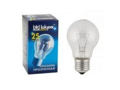 Электрическая лампа накаливания ИСКРА А50 (25Вт), в индивидуальной упаковке