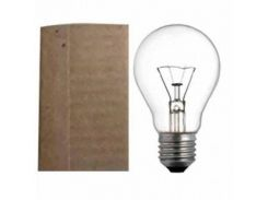 Электрическая лампа накаливания ИСКРА А50 (25Вт), в упаковке манжет