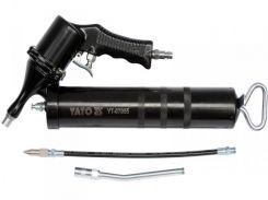 YATO Шприц мастильний пневматичний; V= 400 см³, вих. P= 30-40 MPa, продукт.- 28 л/хв