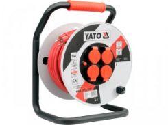 YATO Подовжувач електр./мережевий  на катушці l=40мм, 3-жильний, Ø=2,5мм2