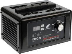 YATO Пуско-зарядний пристрій до акумул-в 12/24 В, ємн. 10-300 Агод;V= 230 В,2/8/15А(12В),7,5 А (24В)
