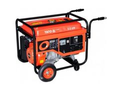 YATO Генератор бензиновий , 5.0 кВт, бак 25л.