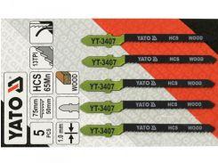 YATO Полотно для електролобзика(дерево) , l=75мм, 13TPI набір 5пр.