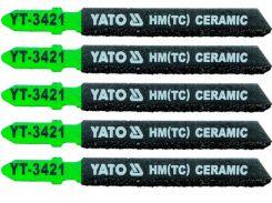 YATO Полотно для електролобзика(кераміка) , l=75мм, набір