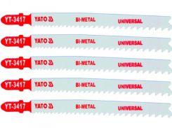 YATO Полотно для електролобзика(метал), 10-5TPI, l=130мм, набір 5пр.