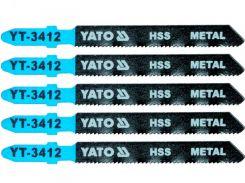 YATO Полотно для електролобзика(метал) YATO, 21TPI, l=75мм, набір 5шт.