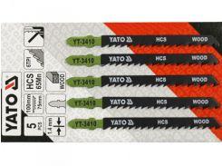 YATO Полотно для электролобзика(дерево) , 6TPI, l=100мм, набір 5пр.