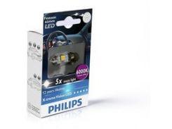 Лампа светодиодная Philips Festoon BlueVision LED T10.5x43, 6000K, 1шт/блистер