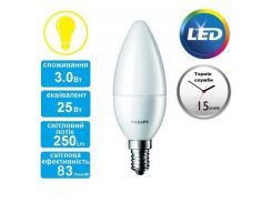 Лампа светодиодная Philips LEDcandle ND E14 3-25W 230V 827 B39 CorePro