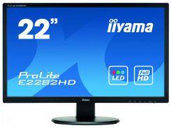 21,5''TFT, IIYAMA E2282HD-B1 LED (5ms, VGA, DVI) Black