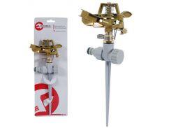 Дождеватель пульсирующий с полной/частичной зоной полива на костыле, круг/сектор полива до 12м. Bras