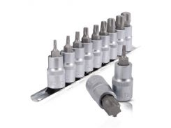 "Набор TORX на планке 1/2""- Т20;25;30;40;45;50;55;60;70., 9ед. Intertool HT-1849"