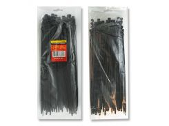 Хомут пластиковый 2,5x200мм, (100 шт/упак), черный Intertool TC-2521