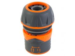 """Коннектор ½"""" быстросъёмный для шланга ¾"""" с замком FLORA 5015484"""