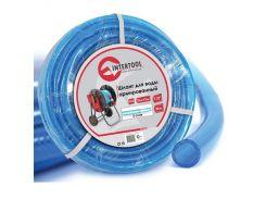 """Шланг для воды 3-х слойный 1/2"""", 30м, армированный PVC Intertool GE-4055"""