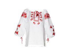 Вышиванка женская рубашка (двойная вышивка) LV-111