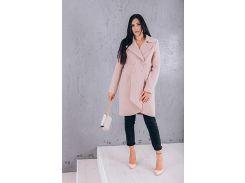 Пальто женское классика из кашемира цвет бежевый D12871