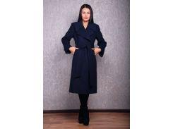 Пальто женское D1381 из кашемира темно-синее