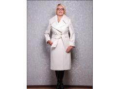 Пальто женское D1381 белый кашемир