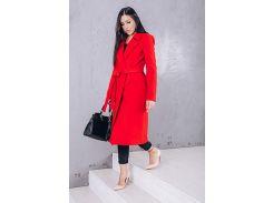 Пальто женское из кашемира D271 цвет красный