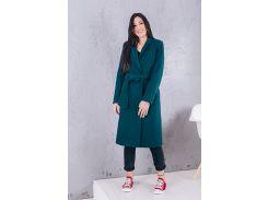 Пальто женское из кашемира D270 цвет изумруд