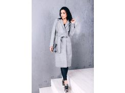 Пальто женское из шерсти D270 цвет серый
