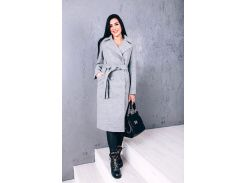 Пальто женское из шерсти D271 цвет серый