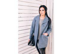 Пальто женское из шерсти D112 цвет голубой