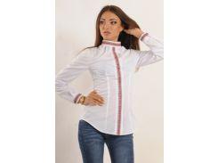 Рубашка женская Этно-осень белый Ри Мари
