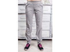 Спортивные штаны светло-серые меланж