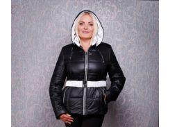 Куртка женская К 130 черно-белая OZZE