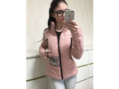 Куртка женская стильная весенняя К 351 розовая