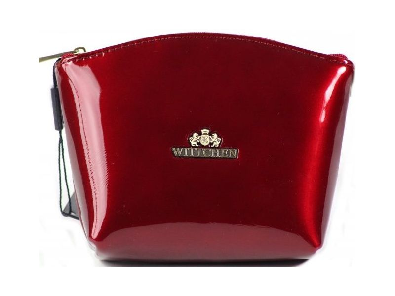 7b33215c75ff Элегантная красная косметичка из лакированной натуральной кожи Киев