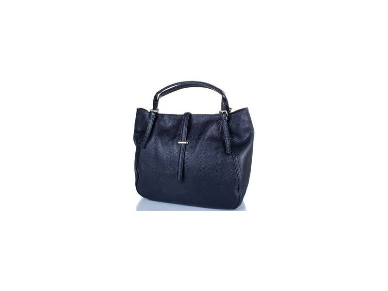 dd88902229c6 Элегантная и вместительная темно-синяя женская сумка из натуральной кожи  Киев