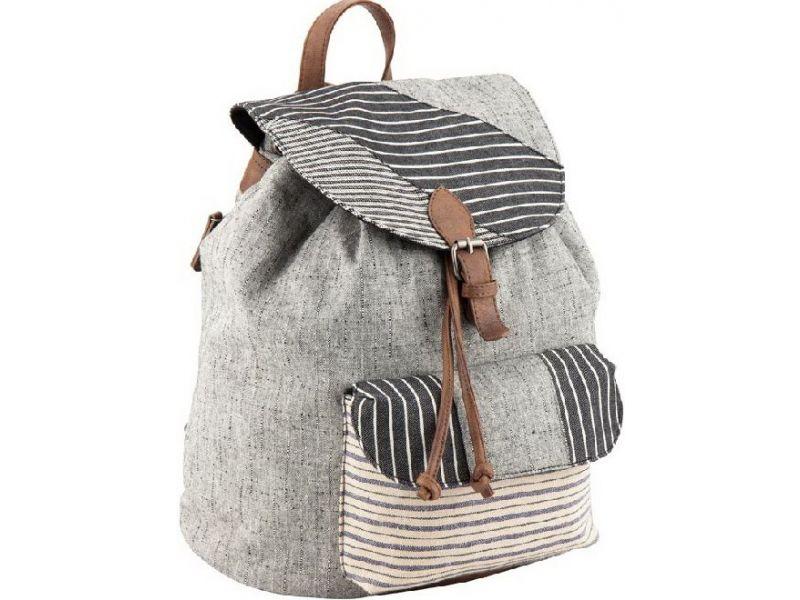 cf4036ecae5d Вместительный серый рюкзак из натурального хлопка в стиле пэчворк Киев