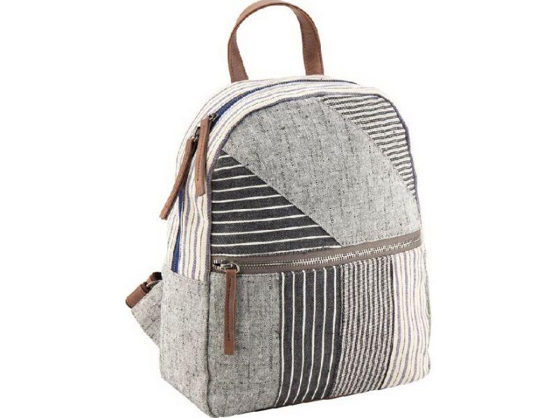 2f2bc8bc461a Легкий и комфортный серый рюкзак в стиле пэчворк купить недорого за ...