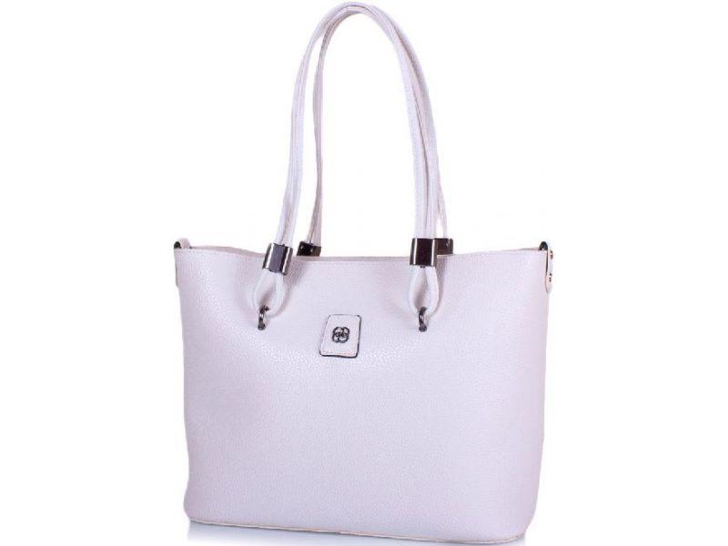 6a1582ee05e3 Белая вместительная и модная женская сумка с сумочкой-косметичкой в  комплекте Киев
