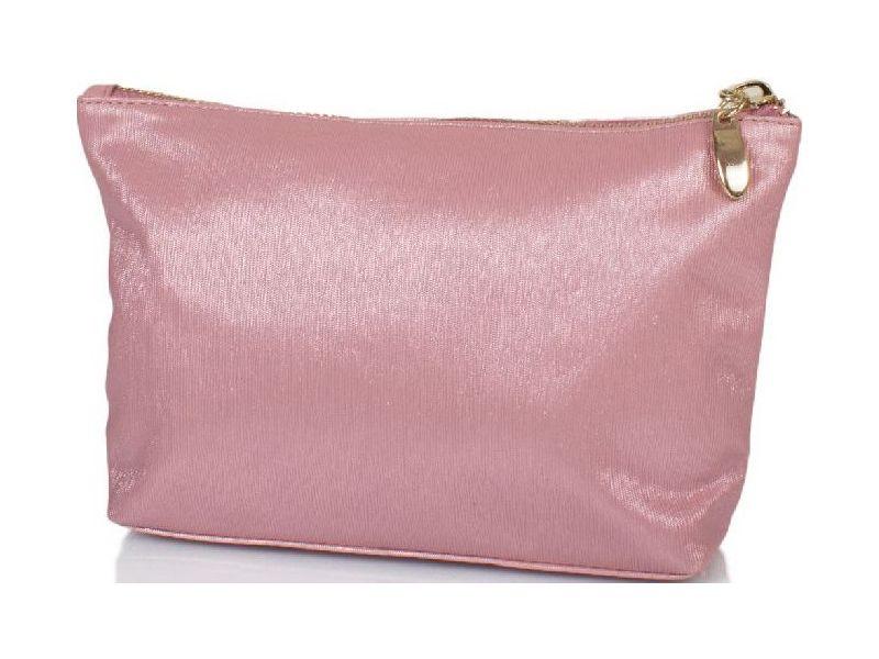 5506fc3ff079 Вместительная косметичка цвета светло-розовый металлик из качественного  кожезаменителя Киев