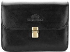 Стильная и вместительная черная сумка через плечо из натуральной кожи