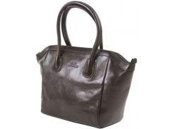 Статусная черная кожаная сумка с отличным дизайном