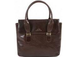 Стильная коричневая сумка из натуральной мягкой кожи