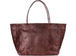 Красивая коричневая сумка из натуральной кожи