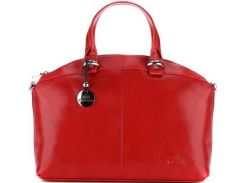 Красная повседневная сумка из качественной итальянской кожи
