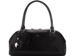 Черная кожаная женская сумочка из коллекции Venus