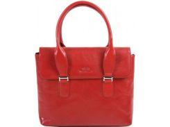Стильная красная сумка из мягкой телячьей кожи